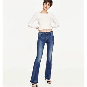 Zara Skinny Flare Hem Jeans